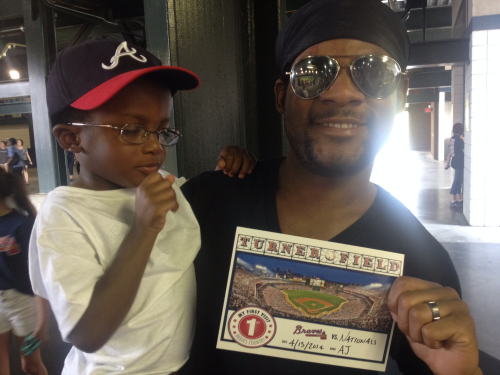A.J. and Daddy at Braves Game