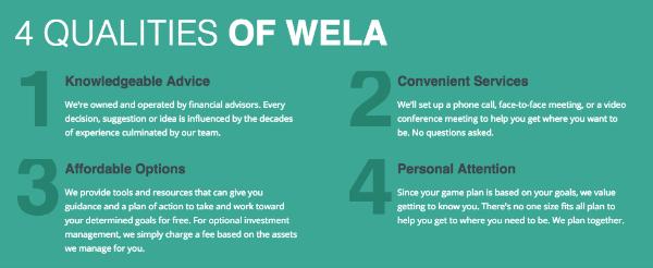 Qualities of Wela