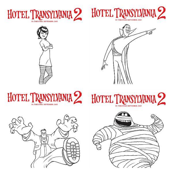 Hotel Transylvania Coloring Sheets