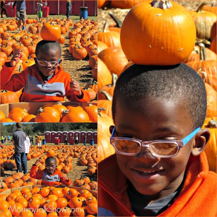 Balancing Pumpkins on Head