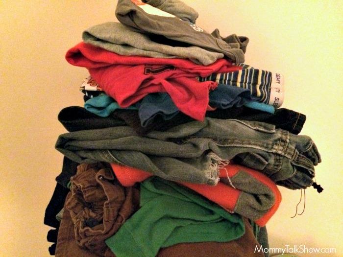 Folded Boys Clothes