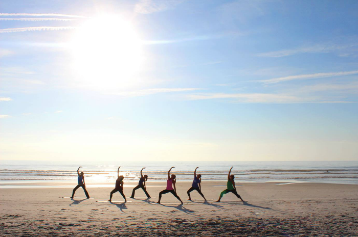 Jekyll Island Beach Yoga