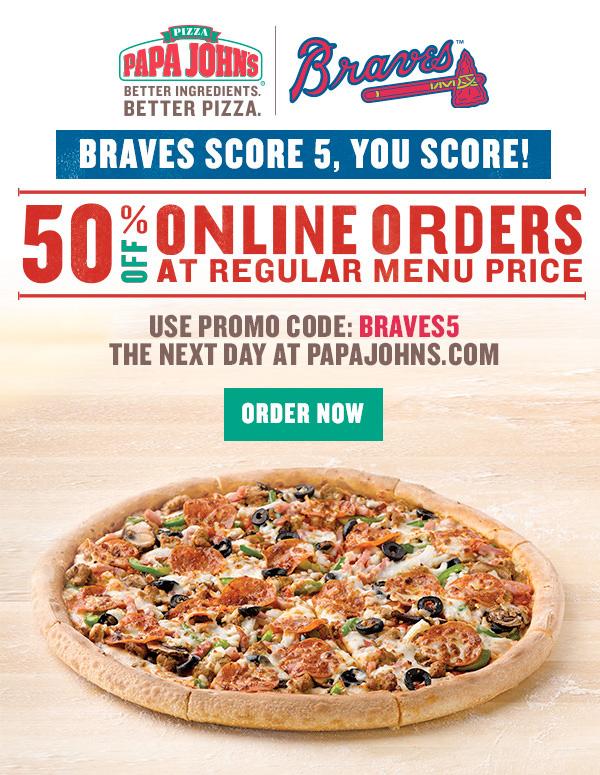 Papa Johns Braves Partners