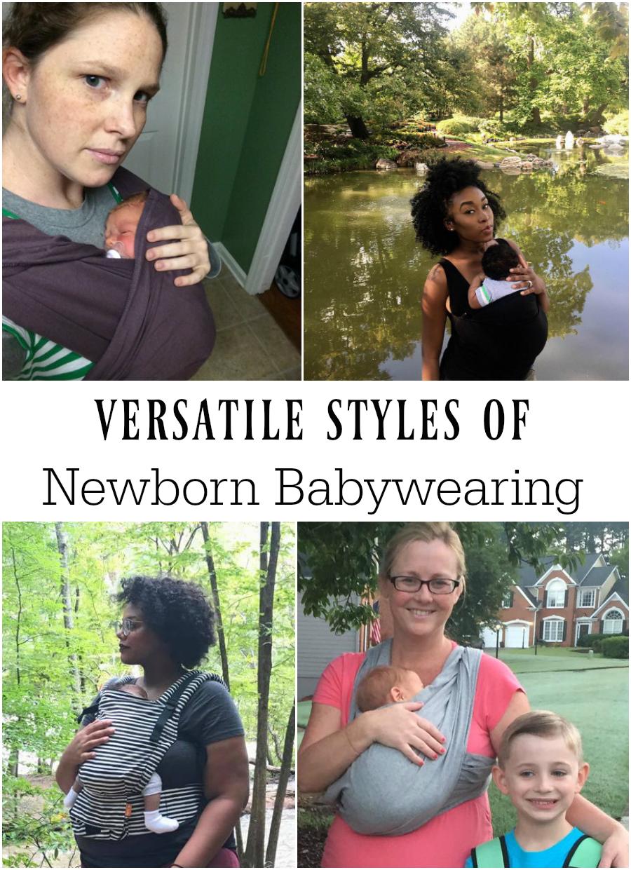 Versatile Styles of Newborn Babywearing
