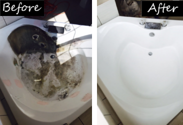 Bath Tub Refinishg and more Spa Before & After