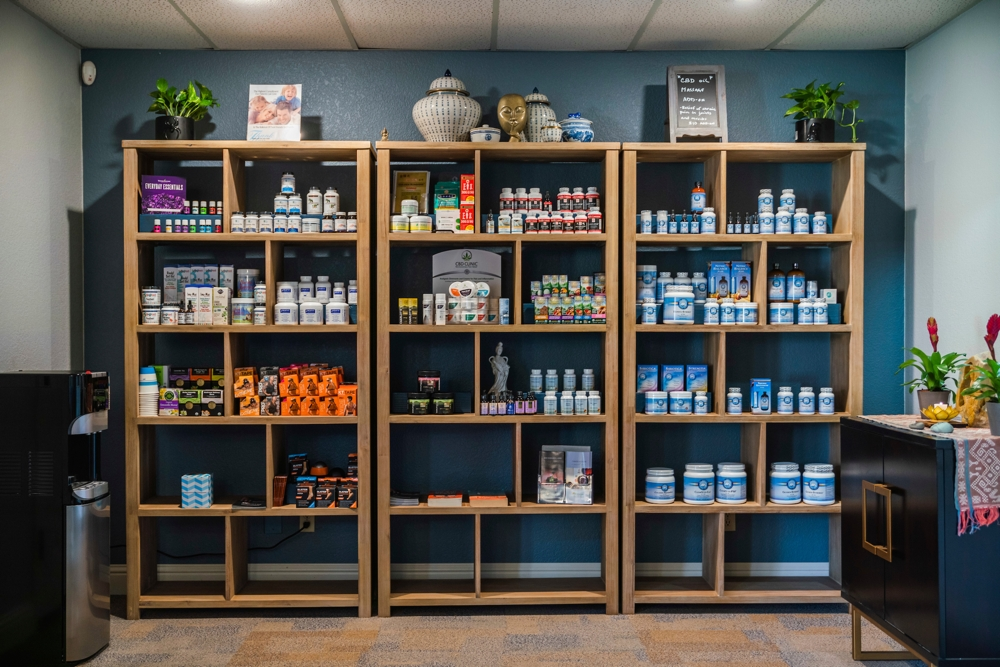 herbs supplements shelf