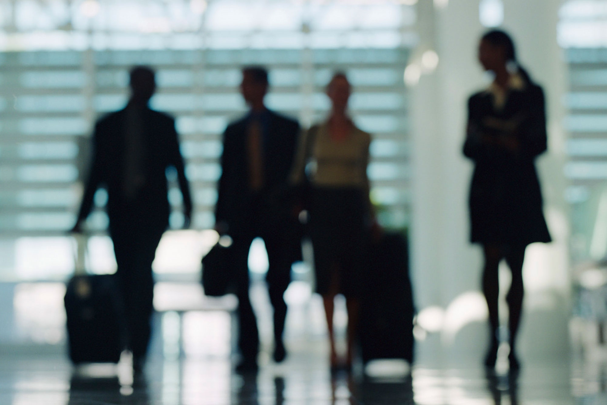 Blurred image of employees