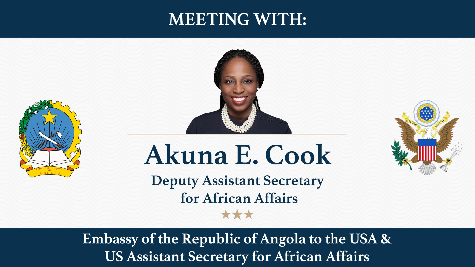 Meeting with US Assistant Secretary for African Affairs