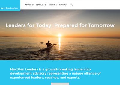 Website for NextGen Leaders B2B Consulting