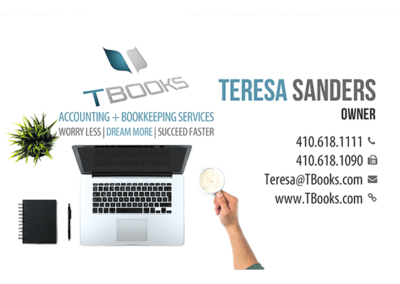 Business Card for Tbooks