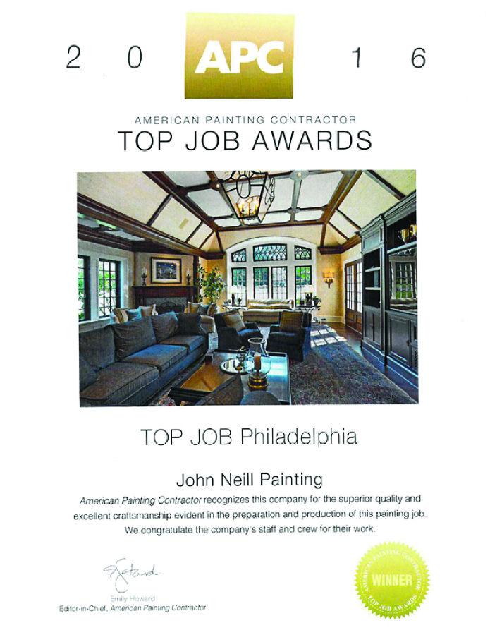 APC Top Job Award Philadelphia 2016