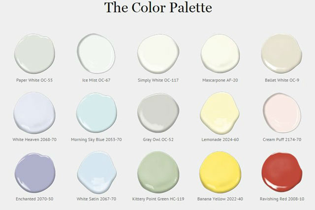 2016 Color of the Year - The Color Palette by Benjamin Moore