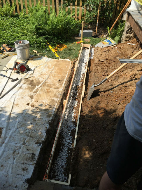 Prep Work for a New Footer for Exterior Stairs during a Front Porch Remodel in Chestnut Hill, PA