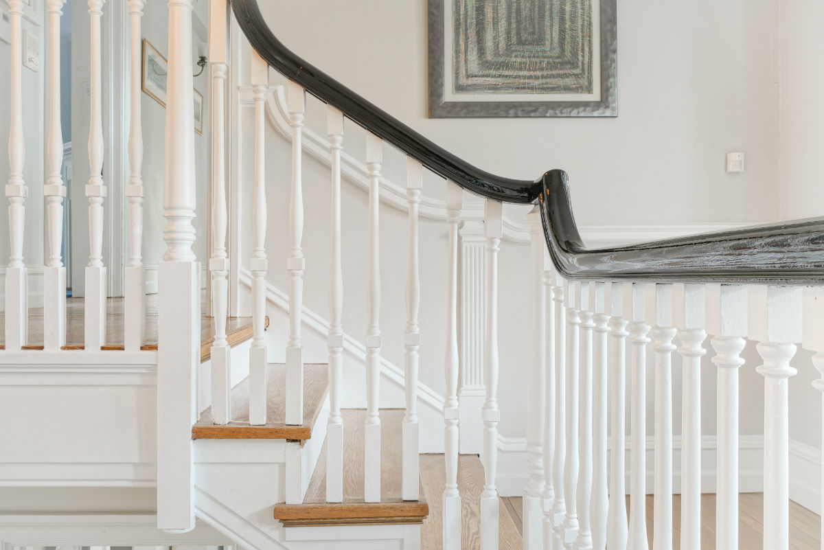 Staircase banister work by John Neill Painting