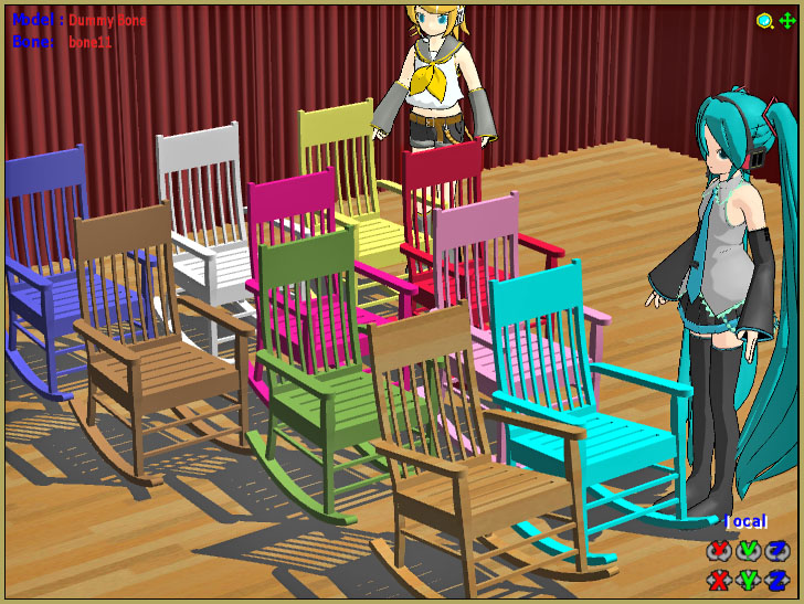 Download Reggie's collection of Rocking Chair Accessory for MMD7.39
