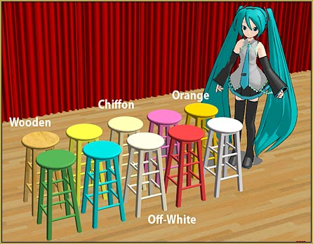 Get the set of TEN MMD Wooden Stools from the LearnMMD.com Downloads Page!