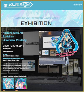 "Visit the Miku Expo page and see ""Universal Positivity""!"
