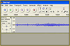 I use Audacity audio editing software ... a free download from the LearnMMD Downloads page.