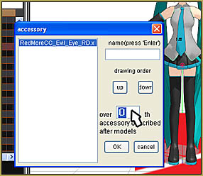 If the Nameplate Effect is BEHIND your model, use Accessory Edit to fix it!