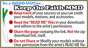 Keep the Faith-MMD... Learn how to be a GOOD MMDer!