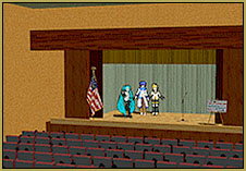 A stage can be as simple as the original LearnMMD Auditorium stage. Build your own stage for MMD.