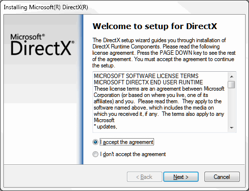 You must install DirectX 9.0c before you can use it