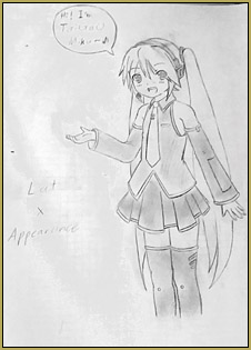I decided to draw Miku combining styles of both LAT and Appearance model versions...