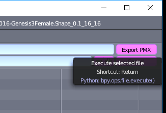 Export the model as a PMX form Blender.