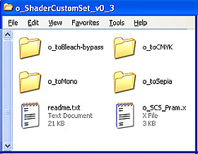 o_ShaderCustomSet_v0_3 has one .x and four folders... each with its own effect version.