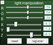 The MMD Light Manipulation panel lets you adjust the position and color of the ambient lighting!