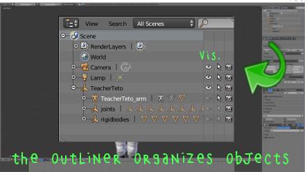Revealing MMD armatures with Blender's Outliner