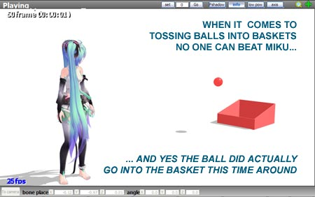 Miku does it! Have fun playing a game within MMD!