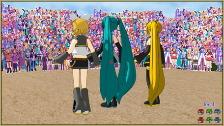 """The Paper Crowd model adds life to your MMD performance! This is """"16 Crowd"""" """"arena front"""" with """"raise""""."""
