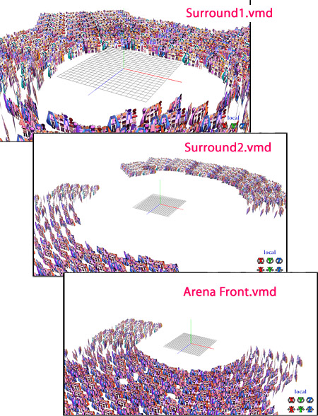 The included .vmd files offer instant arena seating!