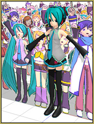 """The Paper Crowd """"crowd"""" is smaller than Miku's full height."""