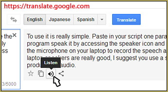 "Google Translate speech synthesizer can ""read"" your text out loud!"
