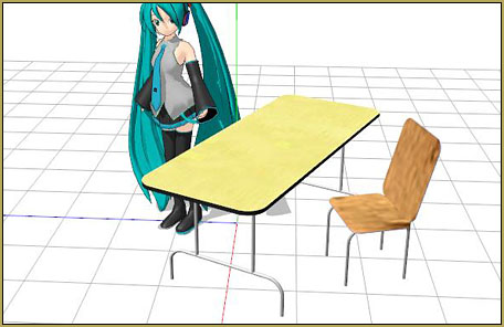 Download Reggie's Cafeteria Table and Chair accessory from the LearnMMD.com Downloads Page.