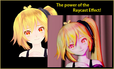 The MME Raycast effect turns cartoons into skin and flesh!