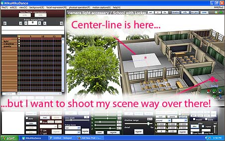 The coordinate axis center-line is far from my action... making it hard to place models and move camera.