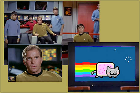 A nice touch... Kirk VS Nyan Cat!