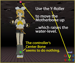 Move the Center bone aside so you can select the Mother bone, beneath it.