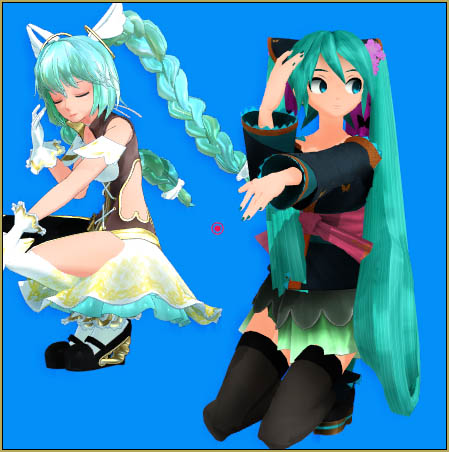 """Miku Cagada """"reads"""" her pose data differently from my Angelpie!"""