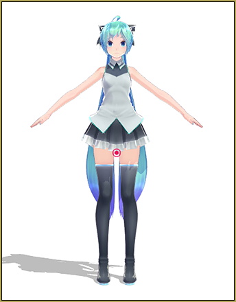 Xoriu's TDA Costume Arrangement A Miku... our test model as we aim for a natural motion in MMD.