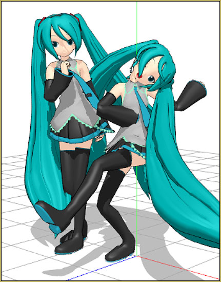 I'm afraid poor Miku has been bent and contorted by thousands of new MMDers!