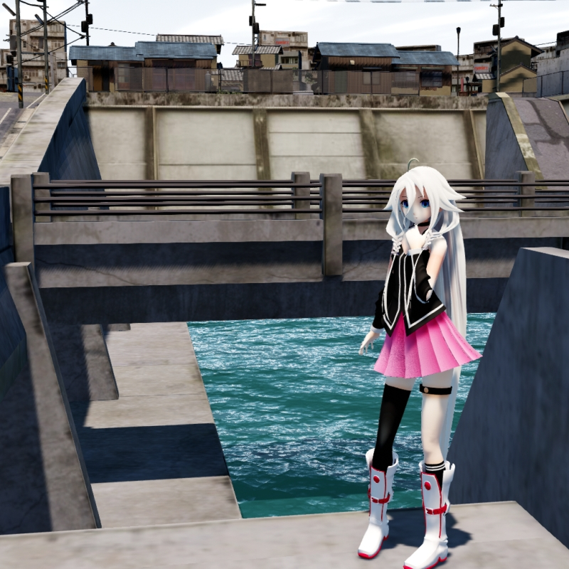 An MMD town stage: Making Kerorin Town Great Again - Part 2