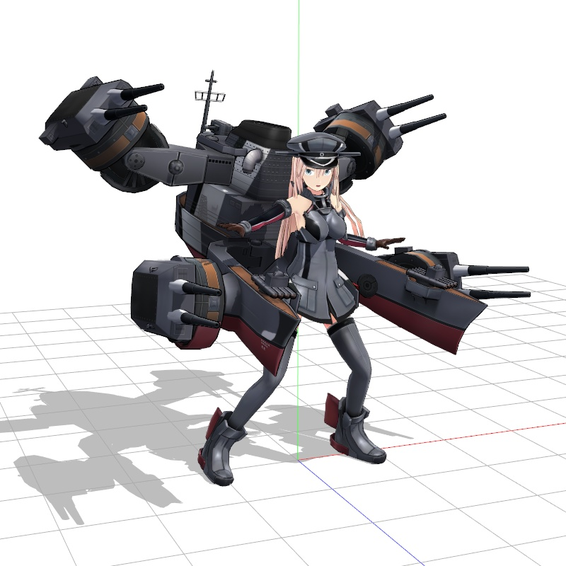 """For this Ray-MMD Demonstration, start by creating a """"nice"""" pose so that you can adjust the main lights."""