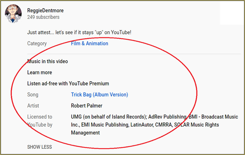 """YouTUbe """"approves"""" my music""""... at least not complaining!"""