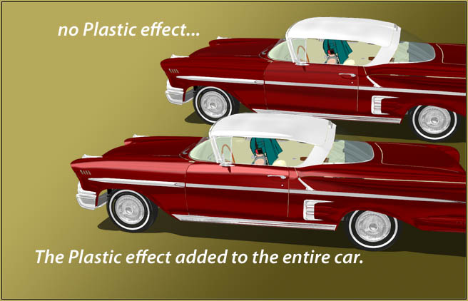 Dipping the entire MMD vehicle model in Plastic... MME Plastic Effect... put a nice gloss on the car.