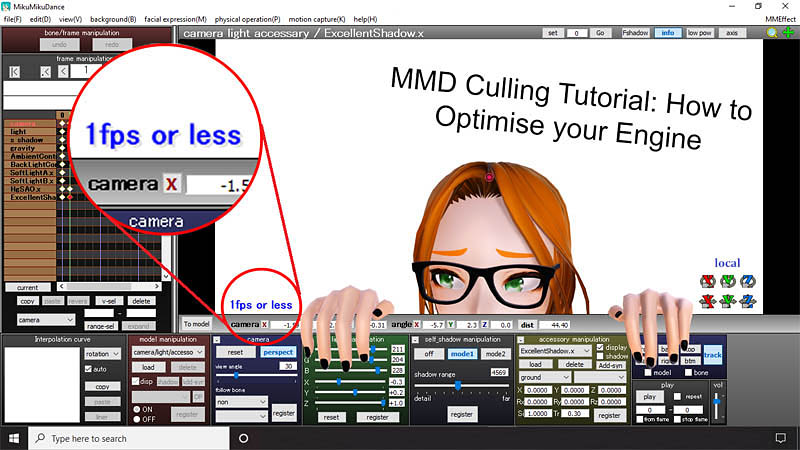 Optimise computer assets as you work in MMD by removing unseen parts of models and stages.