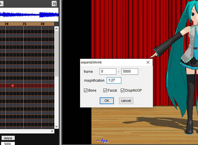 The EXPAND tool is handy when you are creating your own MMD Dance Motion.